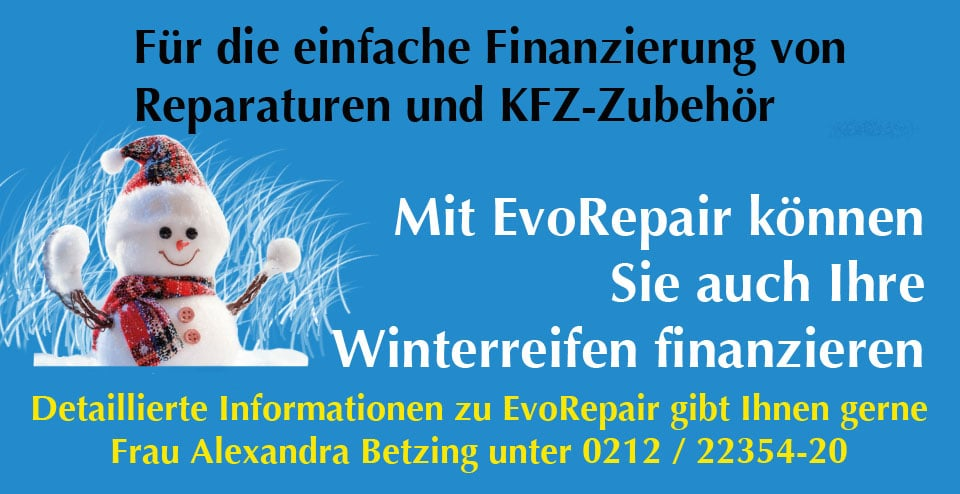 Header Evo Repair Winter 2